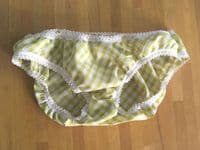 Gingham Knicker Kits - lime green